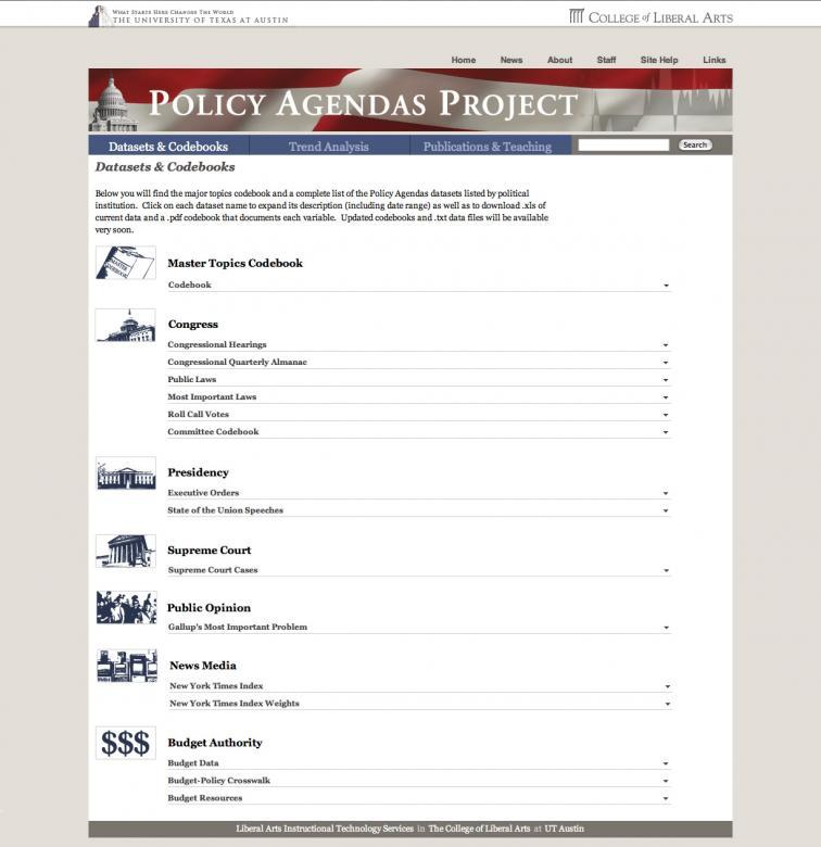 Policy Agendas Icon Page