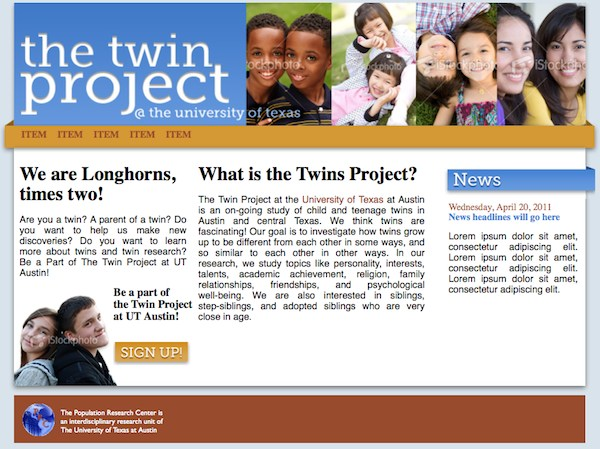 Latest Progress on the Twins Project