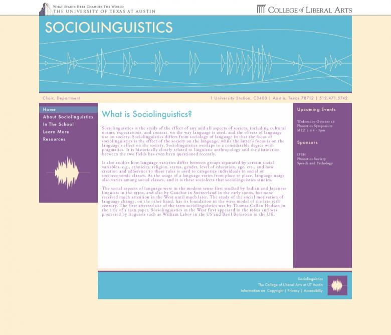 Sociolinguistics Mock Up