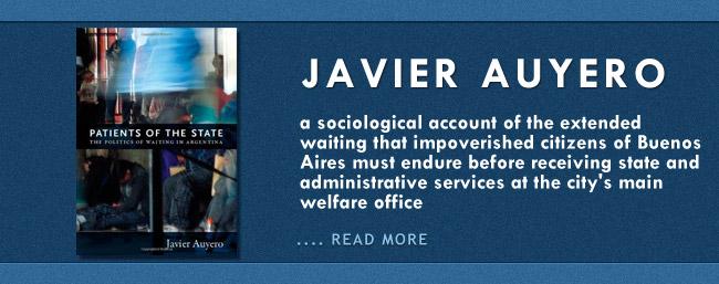 Feature Banner for Javier Auyero