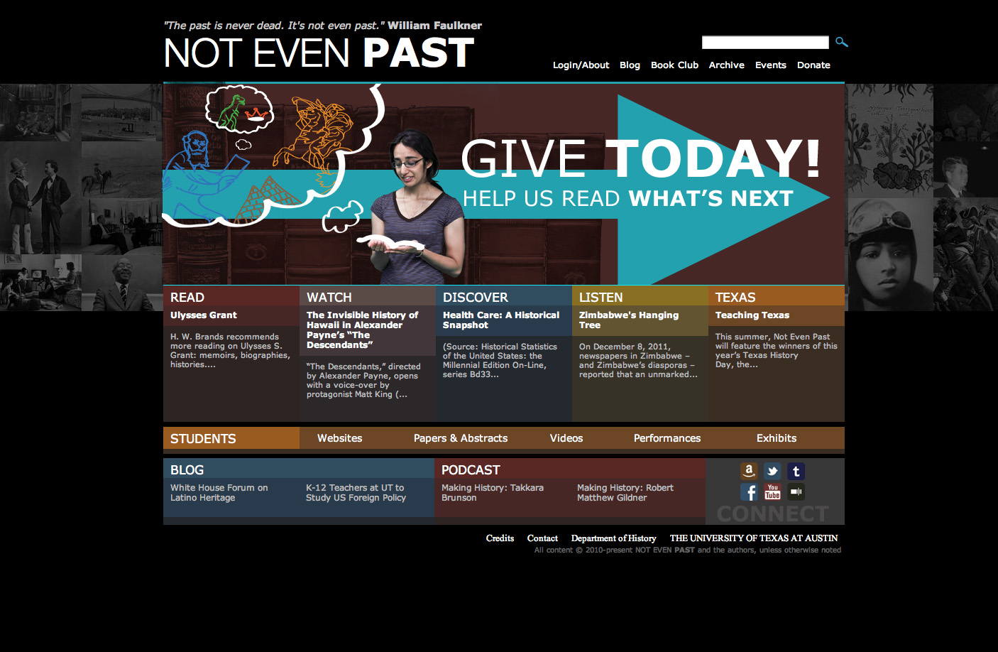 Not Even Past - Banner