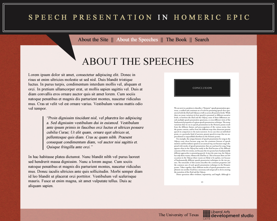 Mockup - About the Speeches
