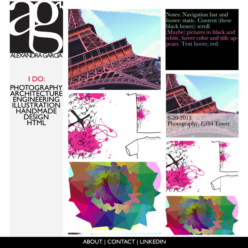 Portfolio Website Design Color