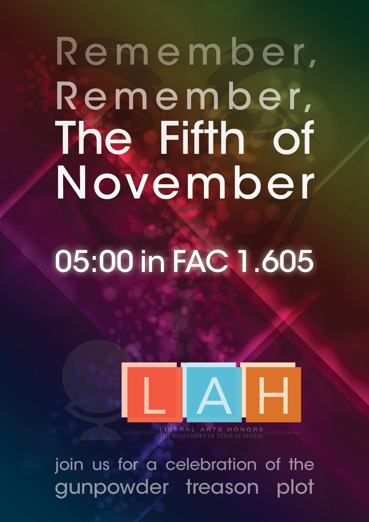 Flyer - Fifth of Novemember