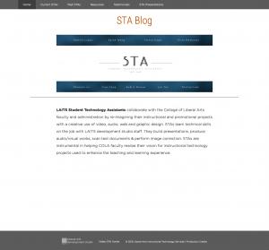 new sta blog