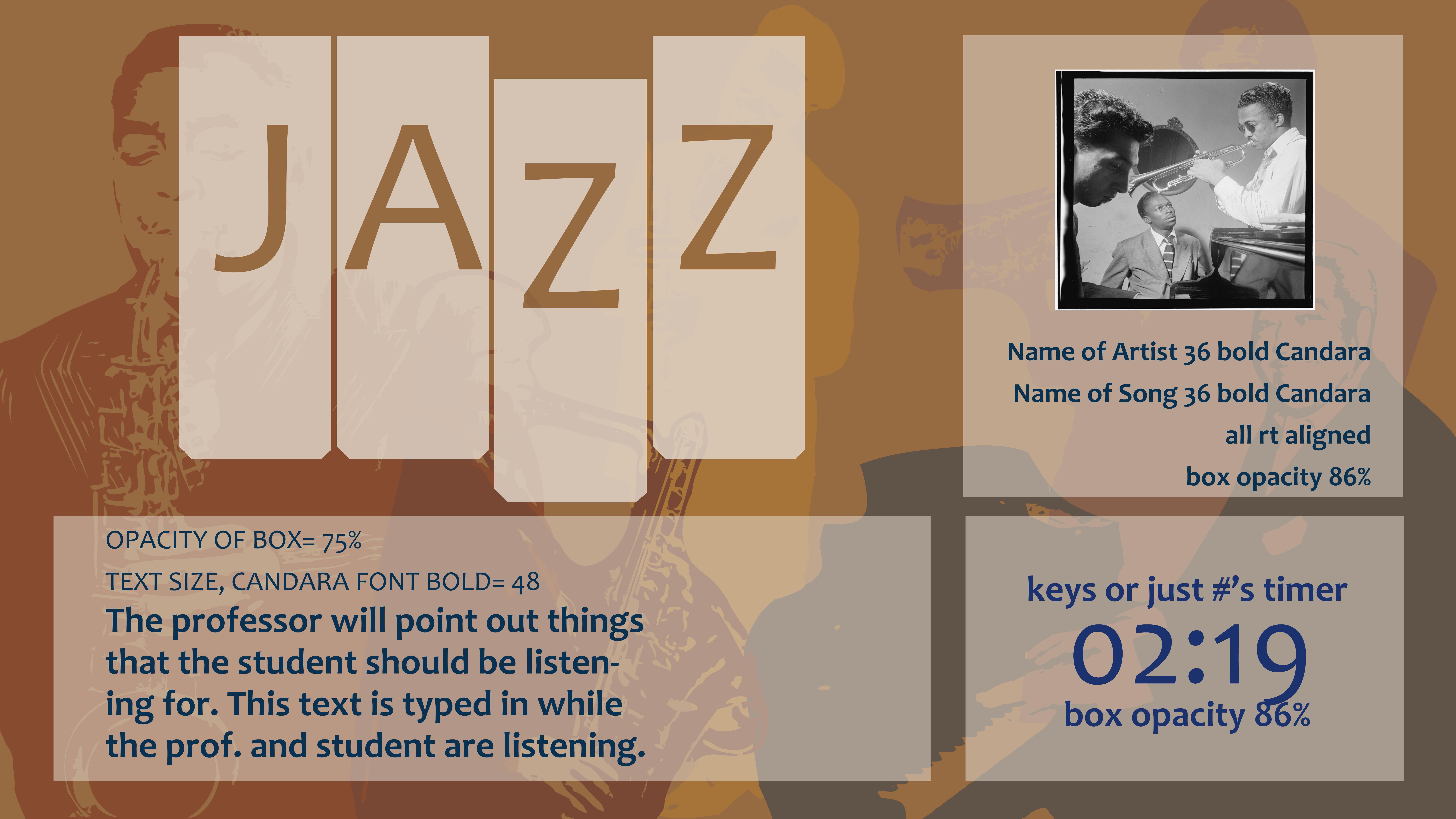 Jazz Spotlight Songs Template