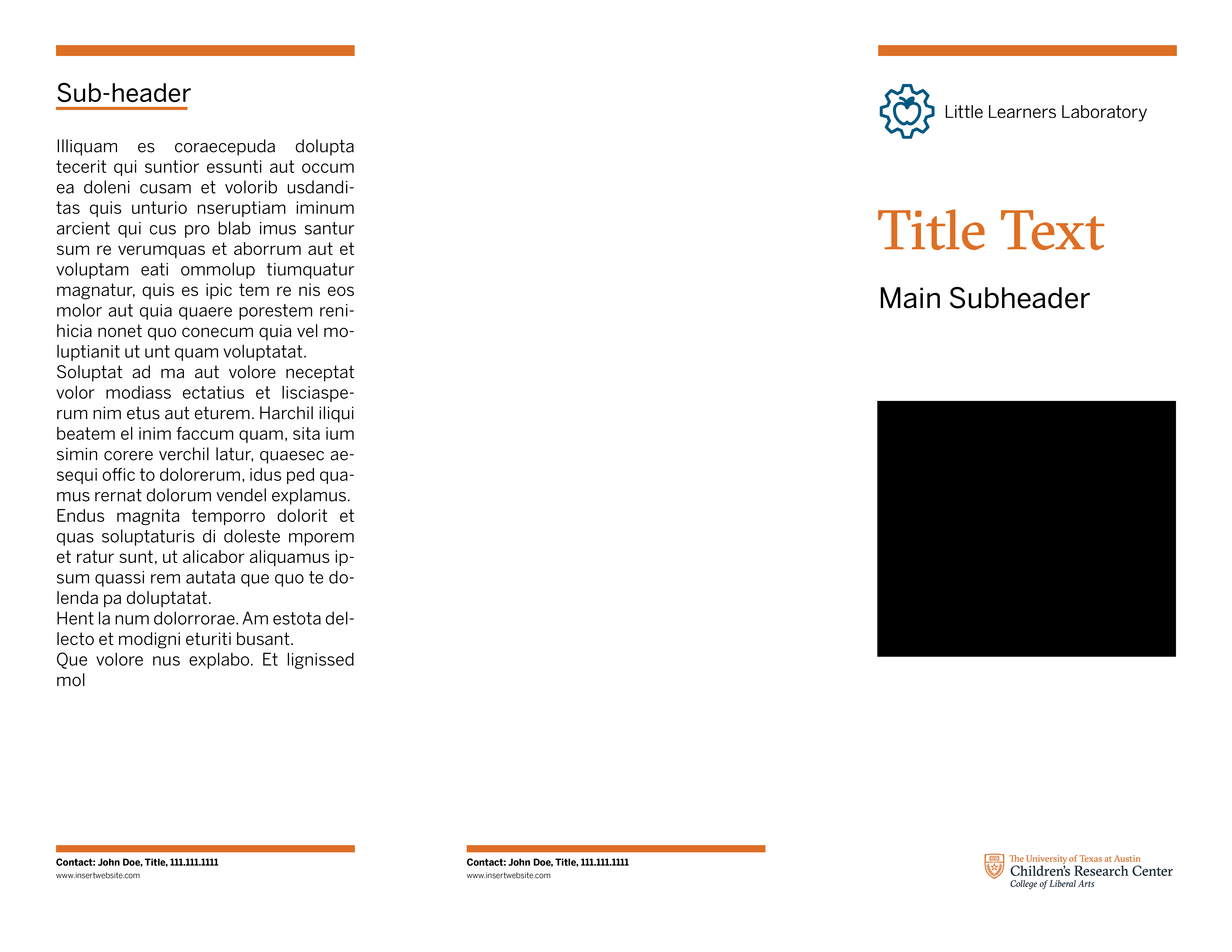 Childrens Research Trifold Template