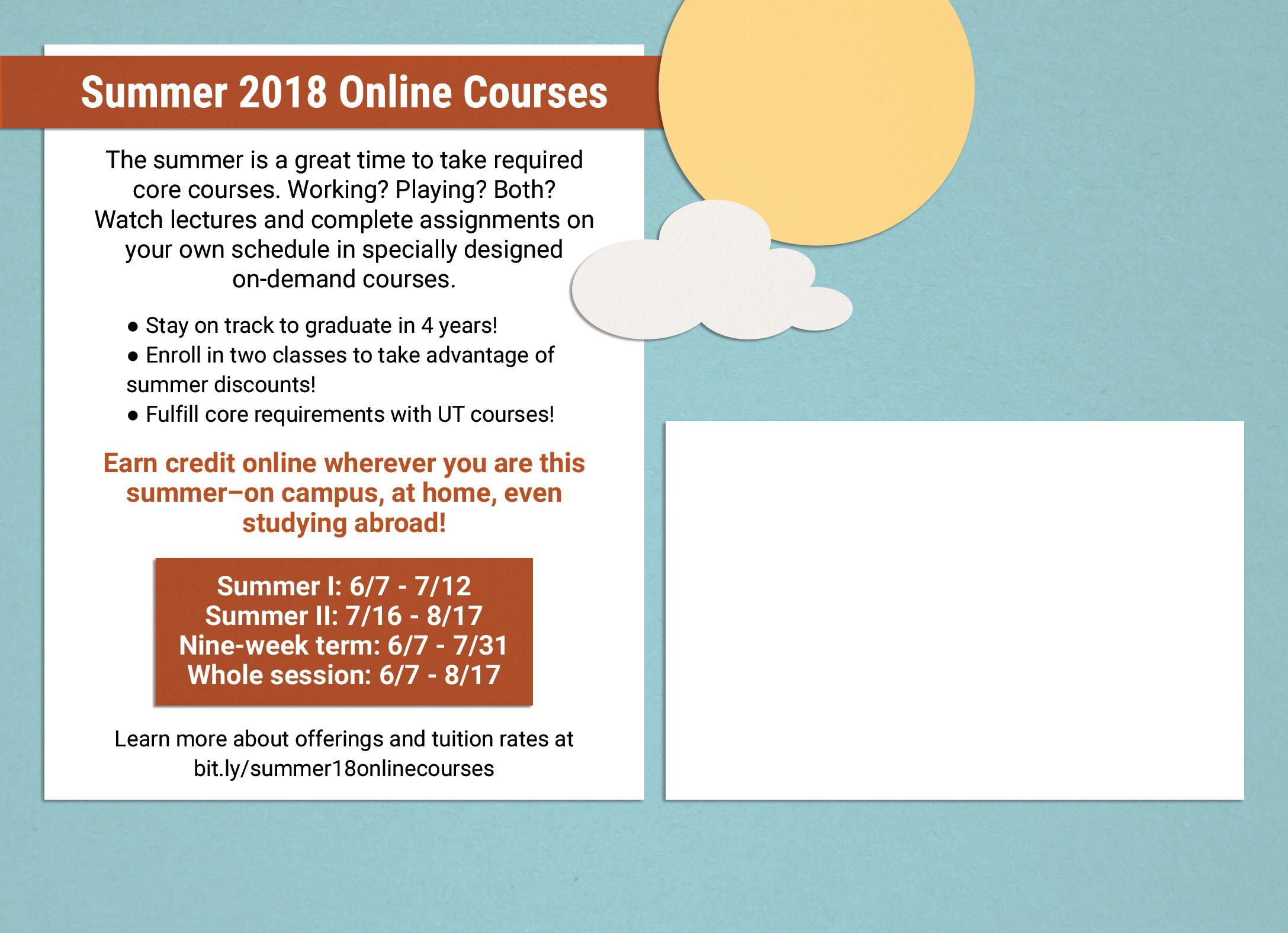 Summer Online Courses Postcard