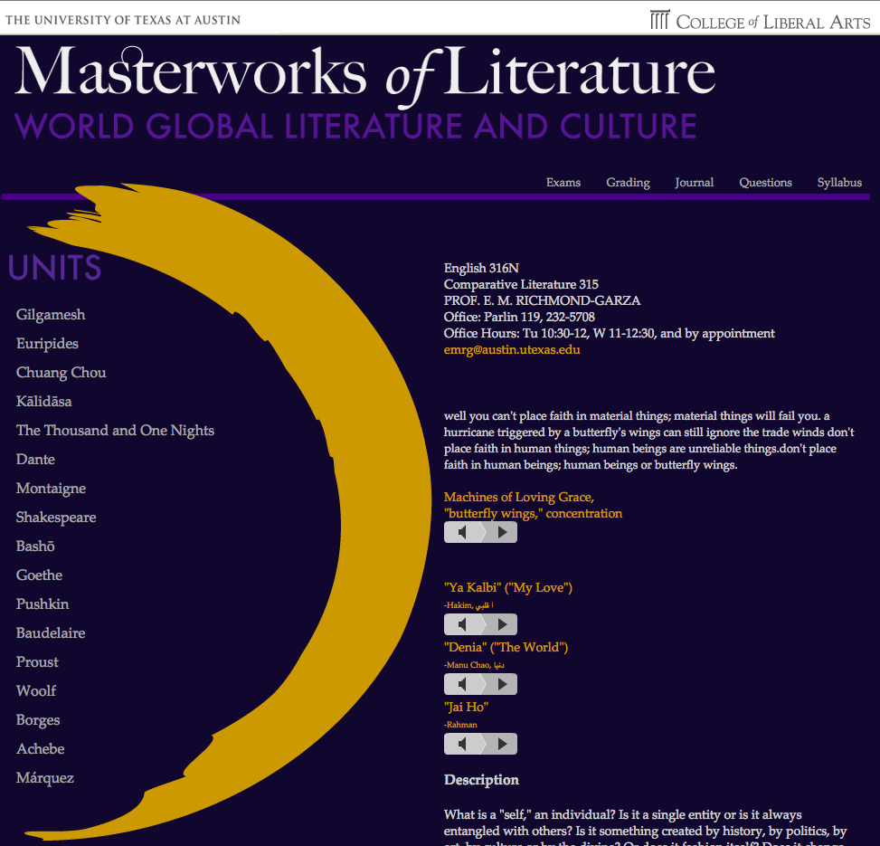 Masterworks of Literature Drupal Version