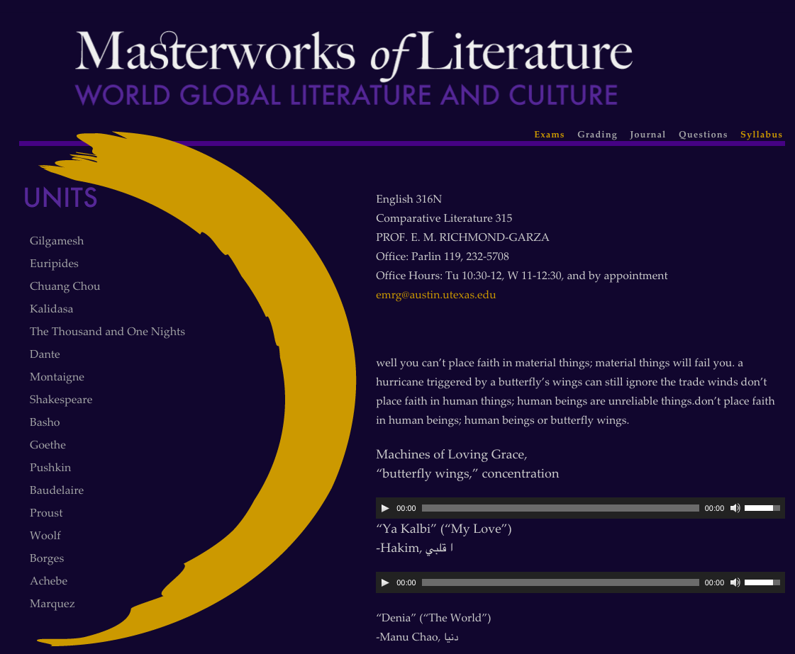 Masterworks of Literature WordPress Version