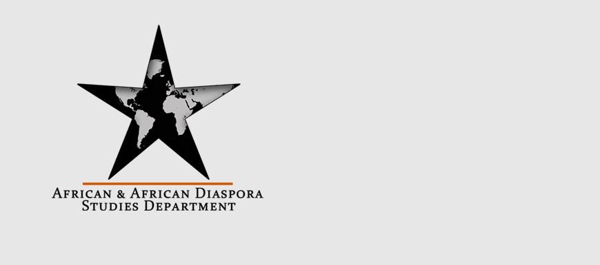 African & African Diaspora Studies Department banner with logo