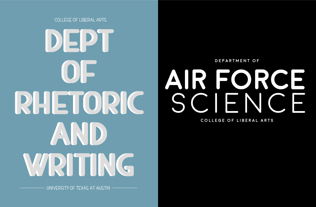 logo designs for rhetoric and writing and air force