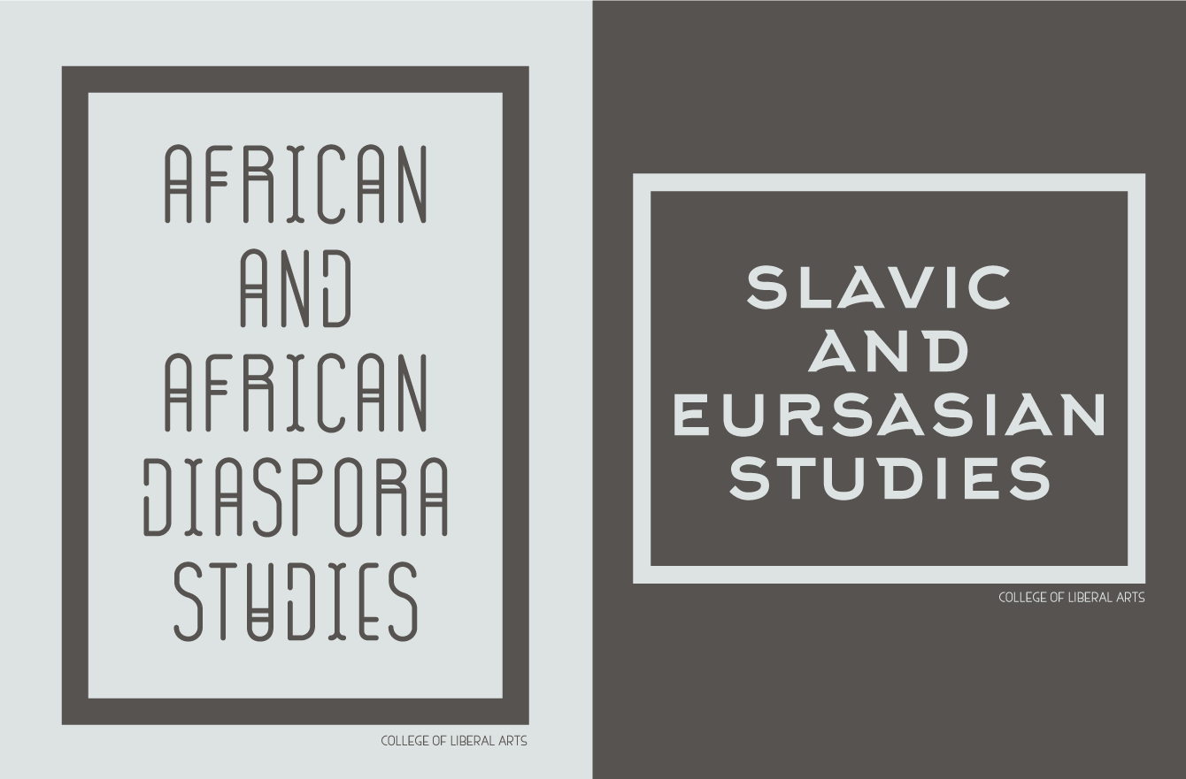 logo designs for african and slavic studies
