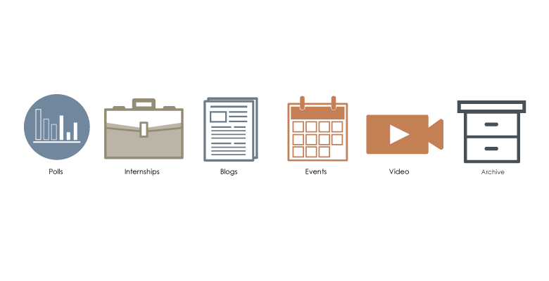 search result categories and their associated icons