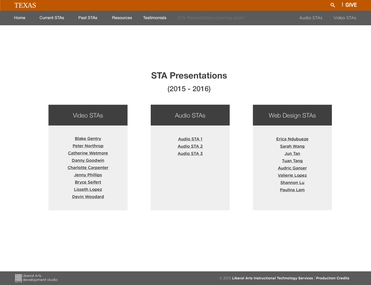 sta presentations page